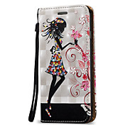 For iPhone 8 iPhone 8 Plus iPhone 7 iPhone 6 iPhone 5 Case Case Cover Card Holder with Stand Flip Full Body Case Sexy Lady Hard PU Leather