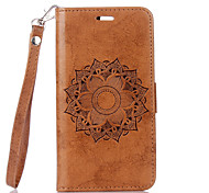 cheap -Case For LG G3 LG K8 LG LG K10 LG K7 LG G4 Card Holder with Stand Flip Full Body Cases Flower Hard PU Leather for