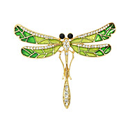 cheap -Women's Brooches - Fashion Gold / Green Brooch For Casual
