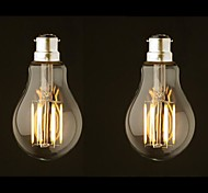 8W B22 LED Filament Bulbs G60 8 leds COB Dimmable Warm White 800lm 2700-3500K AC 220-240 AC 110-130V