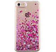 Недорогие -Назначение iPhone 8 iPhone 8 Plus iPhone 7 iPhone 7 Plus iPhone 6 Чехлы панели Движущаяся жидкость Задняя крышка Кейс для С сердцем