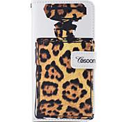 For Apple iphone7 iphone7 Plus iphone6s iphone6s Plus iphone6 iphone6 Plus The Perfume Bottles Leopard Grain Pattern PU Leather Case