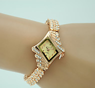 cheap -Women's Quartz Bracelet Watch Imitation Diamond Alloy Band Charm Dress Watch Elegant Fashion Gold