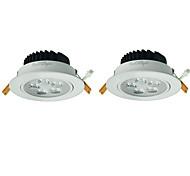 youoklight 2pcs 5W 5xleds 3000k 450lm quentes lâmpada do teto branco (100-240V CA)
