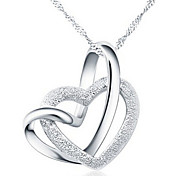 cheap -Women's Heart Pendant Necklace - Love Heart Heart Necklace For Party Anniversary Birthday Thank You Daily Valentine