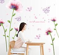Слова и фразы Мода Цветы Наклейки Простые наклейки Декоративные наклейки на стены,Бумага материал Украшение дома Наклейка на стену