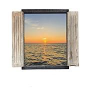 Романтика Пейзаж 3D Наклейки Простые наклейки 3D наклейки Декоративные наклейки на стены,Бумага материал Украшение дома Наклейка на стену