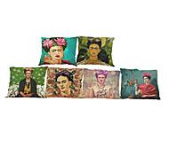 """Недорогие -набор из 6 frida kahlo подушка случае фирменный цветок бабочка автопортрет диван спальня (18 """"* 18"""")"""