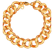 Men Luxury Jewelry Big Size New Trendy Bracelets 18K Gold Plated 14.3 MM Figaro Chain Lobster Bracelets Bangles B40050