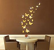 Недорогие -Животные Зеркала Мода Наклейки 3D наклейки Зеркальные стикеры Декоративные наклейки на стены,Стекло материал Украшение домаНаклейка на