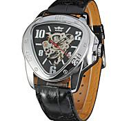 Недорогие -Муж. Спортивные часы Нарядные часы Модные часы Наручные часы Механические часы С автоподзаводом Календарь Натуральная кожа Группа С