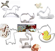 6pcs Creative Stainless Steel DIY Cake Biscuit Baking Mold Christmas  Series Fondant Cookie Cutters Moulds Sugar Paste Cake