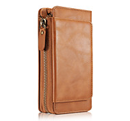 For Samsung Galaxy S7 Edge S7 S6 Edge S6 S5 PU Leather Material Retro Zipper Phone Cover