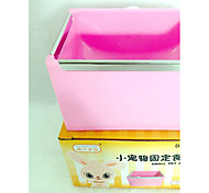 Rodents Rabbits Chinchillas Bowls & Water Bottles Plastic Blue Pink