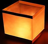 Недорогие -1шт квадратная бумага река желая плавающие свечи воды фонари лампы свет birtyday украшение свадебного банкета