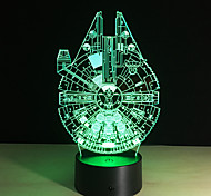 cheap -New 3D Battleship Spacecraft Led Illusion Mood Lamp Bedroom Table Lamp Night Light Bulbing Child Kids Friends Man Family Gifts