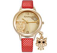 cheap -Women's Quartz Simulated Diamond Watch Wrist Watch Imitation Diamond Alloy Band Heart shape Casual Cartoon Elegant Owl Fashion
