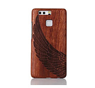 For Shockproof Embossed Pattern Case Back Cover Case Angel Wings Hard Solid Wood for Huawei P9 Huawei P9 Lite