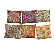 """Недорогие -набор из 6 ретро цветочных полотенец подушка покрытия декоративные подушки охватывает наволочки (18 """"* 18"""")"""