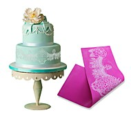 cheap -Necklace Rose Silicone Fondant Impression Mat Mold Baking Silicone Mat Silicone Mat Fondant Fondant Cake Decorating Tools LFM-40