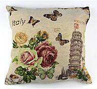 Raylinedo® linen хлопок квадратная крышка подушки pisa башня декоративная наволочка ctjz21-pc-pt