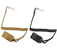 Adjustable Sling Tactical Secure Elastic Lanyard Spring Sling Rope With Magic Tape Belt Hunting Hanging Buckle 1PC
