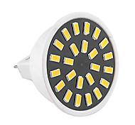 Недорогие -1шт 3W 400-500lm GU5.3(MR16) Точечное LED освещение MR16 24 Светодиодные бусины SMD 5733 Декоративная Тёплый белый Холодный белый