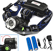 U'King Headlamps Headlight LED 2000 lm 3 Mode Cree XM-L T6 with Batteries and Chargers Zoomable Adjustable Focus Easy Carrying Compact