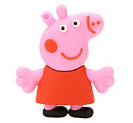 borracha Paige porco cor de rosa flash drive USB 2.0 disco de 64GB