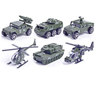 Vehicle Playsets Toy Cars Military Vehicle Police car Toys Car Helicopter Metal Alloy Plastic Metal Classic & Timeless Chic & Modern 1