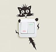 Недорогие -Пейзаж Животные Мода Наклейки Простые наклейки Декоративные наклейки на стены Наклейки для выключателя света, Винил Украшение дома