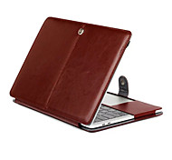 """Case for MacBook Pro 13""""/15"""" with Retina display Solid Color PU Leather Material Tablet Luxury Ultra Slim Magnetic Folio Stand Crazy Horse Pattern"""