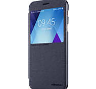 cheap -For Samsung Galaxy A3 A5 2017 with Windows Flip Frosted Case Full Body Case Solid Color Hard PU Leather for Samsung A7(2017)