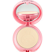 Clever Cat® Two Layers Foundation Cute Pink Rabbit Cameo Pressed Powder Cake