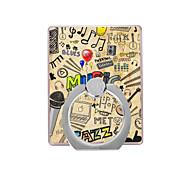музыкальный шаблон пластиковый держатель кольца / 360 вращающийся для мобильного телефона iphone 8 7 samsung galaxy s8 s7