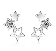 cheap -Women's AAA Cubic Zirconia Sterling Silver 1 Stud Earrings / Drop Earrings - Silver Earrings For Wedding / Party / Daily
