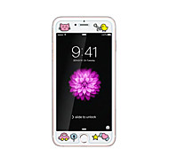 For Apple iPhone 6/6s 4.7inch Tempered Glass Transparent Front Screen Protector with  Emboss Cartoon Pattern Glow in the Dark Chick
