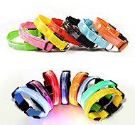 Dog Collar LED Lights Adjustable / Retractable Reflective Batteries Included Strobe/Flashing Safety Solid Rainbow Plastic Nylon Mesh