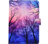 cheap -Case For Apple iPad Mini 4 iPad Mini 3/2/1 with Stand Pattern Full Body Cases Tree Hard PU Leather for iPad Mini 4 iPad Mini 3/2/1 Apple