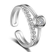 Недорогие -Кольца Свадьба Для вечеринок Особые случаи Бижутерия Платиновое покрытие Кольцо 1шт,Регулируется Серебряный