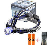 U'King Headlamps Headlight LED 2000 lm 3 Mode Cree XM-L T6 Alarm Adjustable Focus Compact Size Easy Carrying High Power Multifunction for