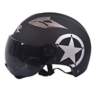 cheap -GXT M11 Motorcycle Half Helmet Dual-Lens Harley Sunscreen Helmet Summer Unisex Suitable For 55-61CM with Short Tea Mirror Lens