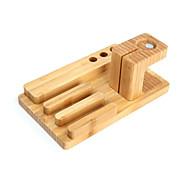 Недорогие -2 в 1 бамбука плата ремесел держатель мобильного телефона для часов яблоко часы телефон стенд кронштейн