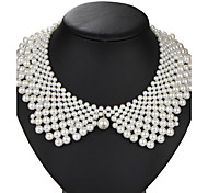 Collar Necklace Pearl Imitation Pearl Alloy Round Vintage Euramerican White Jewelry Party Birthday Daily 1pc