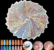 cheap -24pcs Diecut Manicure Stencil Fashion Daily High Quality