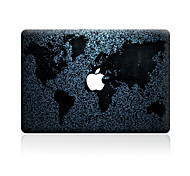 For MacBook Air 11 13/Pro13 15/Pro with Retina13 15/MacBook12  World Map Decorative Skin Sticker