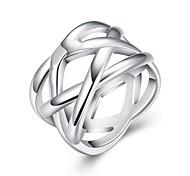 Недорогие -Кольца Повседневные Бижутерия Медь Серебрянное покрытие Кольцо 1шт,6 7 8 9 10 Серебряный
