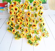 cheap -1 Branch Polyester Sunflowers Wall Flower Artificial Flowers