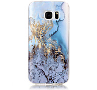 For Samsung Galaxy S7 S7 Edge Marble Ocean Blue Pattern Soft TPU Phone Case Cover S3 S4 S5 S6 S6 Edge