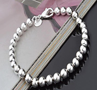 Women's Strand Bracelet Silver Plated Fashion Circle Silver Jewelry 1pc